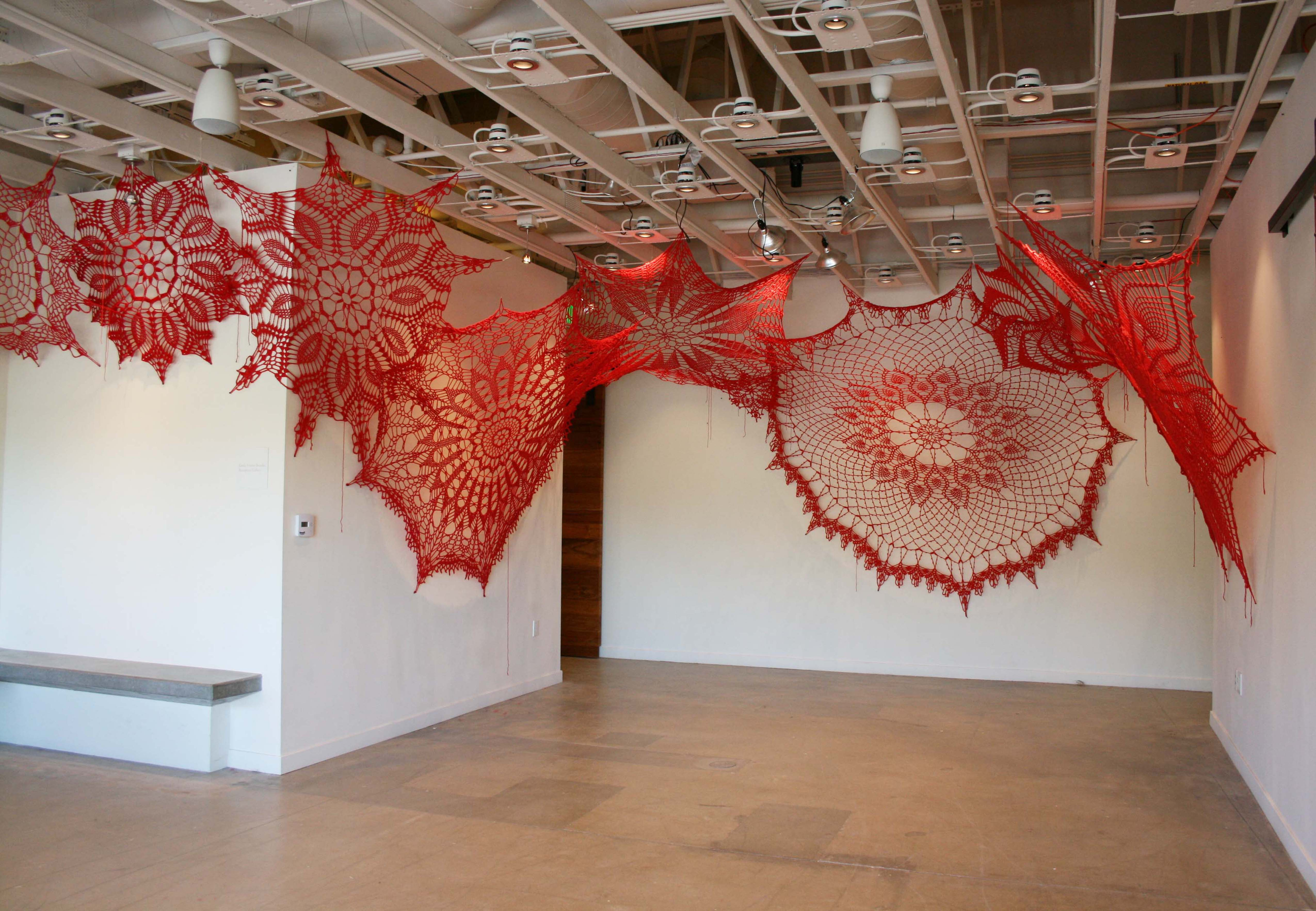 Detail of Ashley Blalock's installation at Lux Art Institute in Encintas, CA in 2018. Courtesy of the artist.
