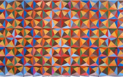 "Doris Leeper ""Modular Wall Relief in Eight Colors"""